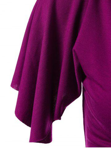 Outfits Empire Waist Asymmetrical T-Shirt with Rhinestone - XL VIOLET ROSE Mobile
