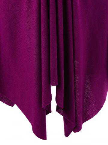New Empire Waist Asymmetrical T-Shirt with Rhinestone - XL VIOLET ROSE Mobile