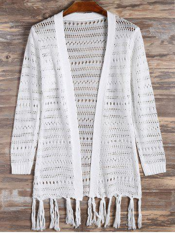 New Tassel Open Front Cardigan