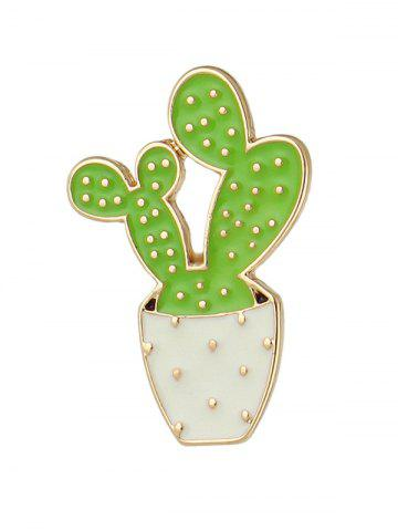 Fancy Cactus Brooch - GREEN  Mobile