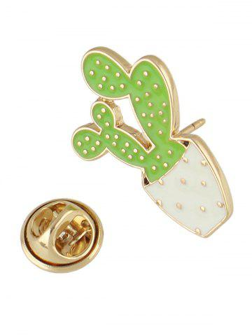 Trendy Cactus Brooch - GREEN  Mobile