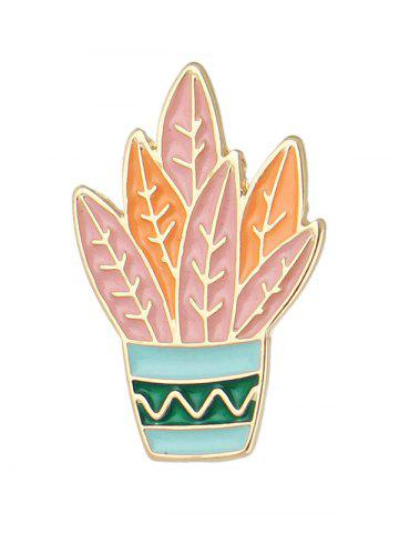 Brooch Cactus Orange