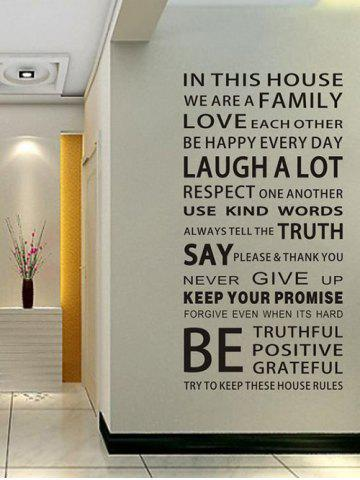 Cheap We Are Family Quote Wall Stickers For Living Room BLACK 60*90CM