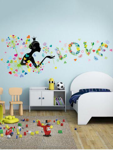Removable Vinyl Dandelion Wall Stickers For Bedroom - Colorful - 60*90cm