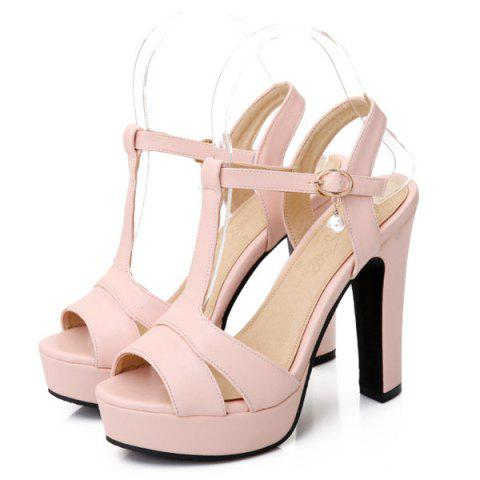 Shop T Bar Platform Sandals - 37 PINK Mobile
