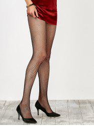 Dress Wear Small Weave Fishnet Pantyhose - BLACK