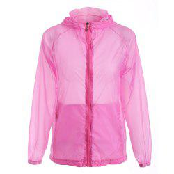 Ultra Thin Hooded Sun Protection Raglan Sleeve Skin Windbreaker