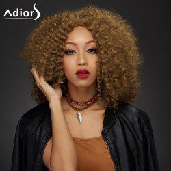 Adiors Medium Middle Part Towheaded Curly Synthetic Wig