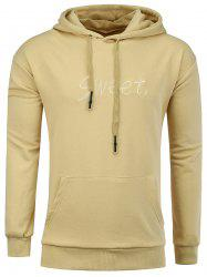 Sweet Embroidery Kangaroo Pocket Hoodie