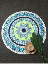 Round Mandala Lotus Beach Throw Cover