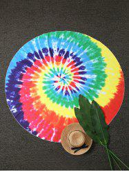 Colorful Tie Dye Round Beach Throw - COLORMIX