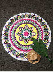Mandala Lotus Print Round Beach Throw - COLORMIX ONE SIZE