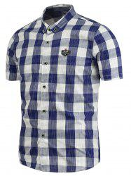 Casual Plaid Button Down Short Sleeve Shirt