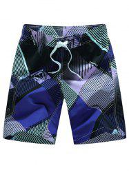 Tie Front Printed Board Shorts
