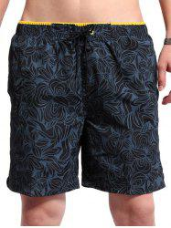 Tie Front Floral Print Board Shorts