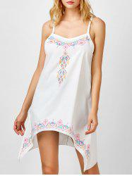 Printed Asymmetric Self Tie Halter Dress