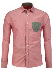 Long Sleeve Contrast Pocket Shirt