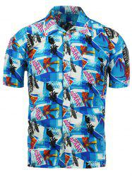 Graphic Print Hawaiian Shirt