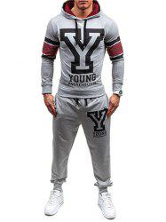 Jogger Pants and Graphic Hoodie Set