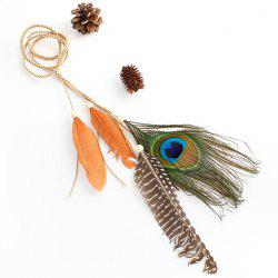 Peacock Feather Tassel Bohemian Headband