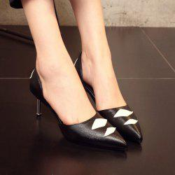 Argyle Pattern Pointed Toe Pumps