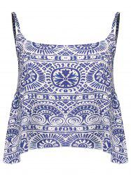 Spaghetti Strap Ornate Print Tank Top