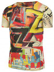 3D Colorful Graphic Pattern T-Shirt