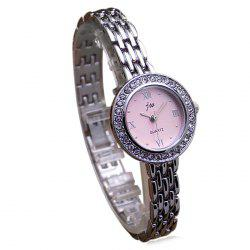 JW Metallic Strap Rhinestone Analog Watch
