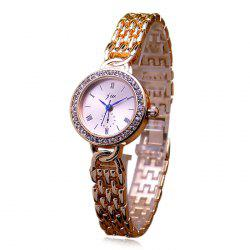 JW Alloy Strap Rhinestone Quartz Watch