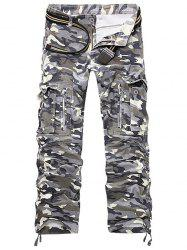 Straight Leg Pockets Military Cargo Pants