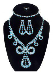 Rhinestoned Teardrop Jewelry Set