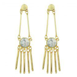 Artificial Rammel Geometric Drop Earrings