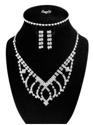 Rhinestone Embellished Jewelry Set