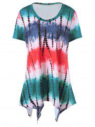 Plus Size  Tie Dye Long T-Shirt