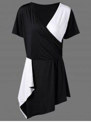 Plus Size Asymmetric Surplice T-Shirt