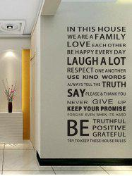 We Are Family Quote Wall Stickers For Living Room - BLACK