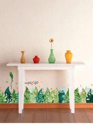 Leaves Wall Stickers For Room Skirting Line Decoration