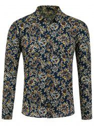 All Over Long Sleeve Paisley Shirt