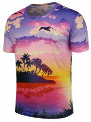Island Tree Pattern T-Shirt