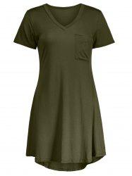 Casual Short Sleeve A Line T Shirt Swing Dress -
