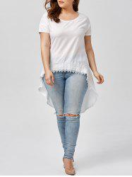 High Low Chiffon Plus Size Top
