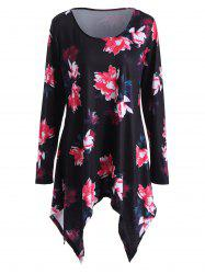 Floral Plus Size Tunic Top