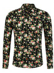 Peony Pattern Long Sleeve Shirt