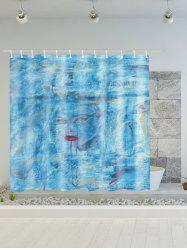 Dream Girl Print Polyester Waterproof Shower Curtain