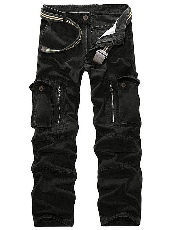 Online Straight Leg Pockets Military Cargo Pants