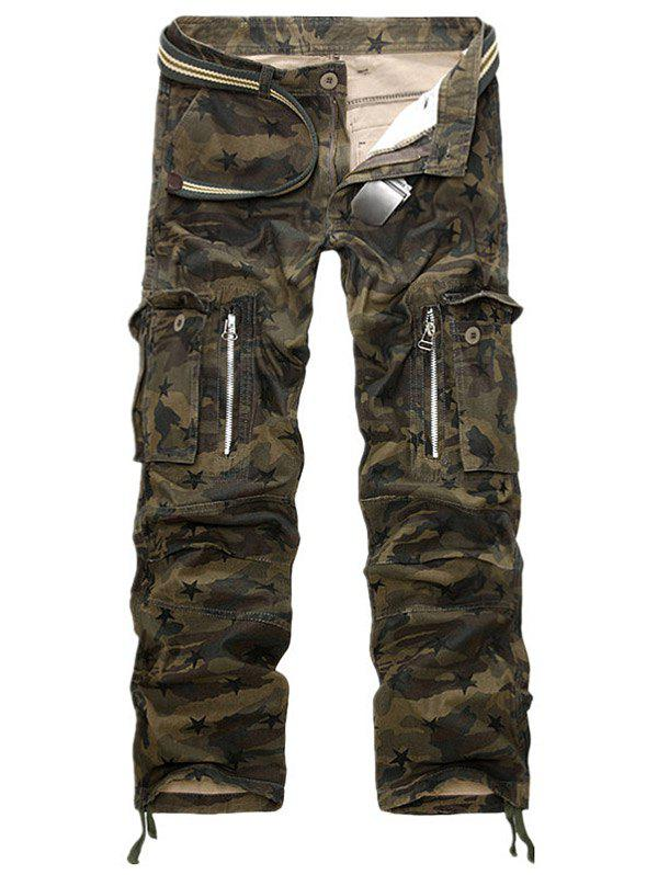 Outfit Straight Leg Pockets Military Cargo Pants