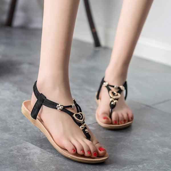 Affordable Flat Heel Beading Sandals