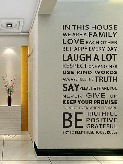 We Are Family Quote Wall Stickers For Living RoomHOME<br><br>Size: 60*90CM; Color: BLACK; Wall Sticker Type: Plane Wall Stickers; Functions: Decorative Wall Stickers; Theme: Words/Quotes; Material: PVC; Feature: Removable; Size(L*W)(CM): 60*90CM; Weight: 0.3751kg; Package Contents: 1 x Wall Stickers;