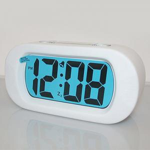 Snooze Alarm LED Digital Clock Silicone - Blanc