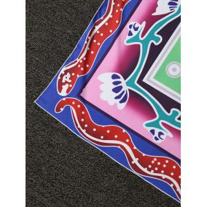 Place Layered Flower Throw Plage Cover -